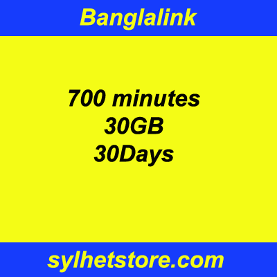 Banglalink 30GB 700Minutes 30Days